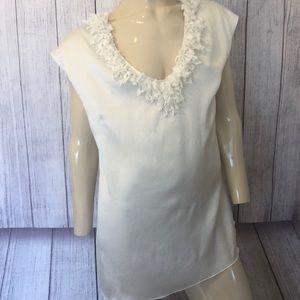 St John (black Label) Couture size 10 silk top EUC